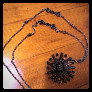 Banana Republic black stone statement necklace